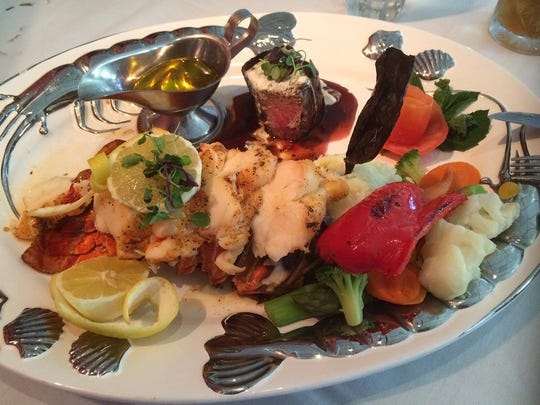 The surf and turf at Aragosta in Ivins.