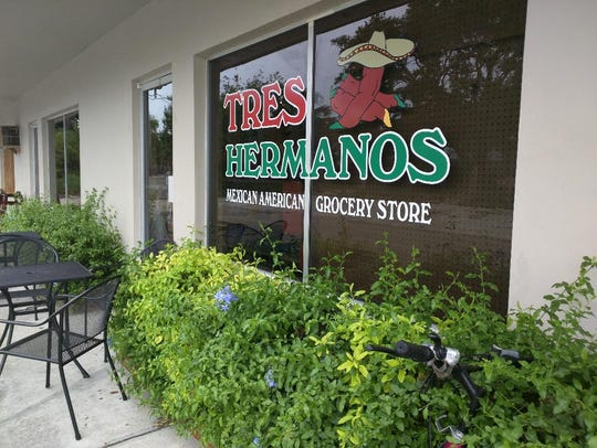 Tres Hermanos' kitchen is in the rear of a tiny Mexican