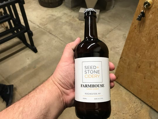 Seed + Stone Cidery's Farmhouse cider.