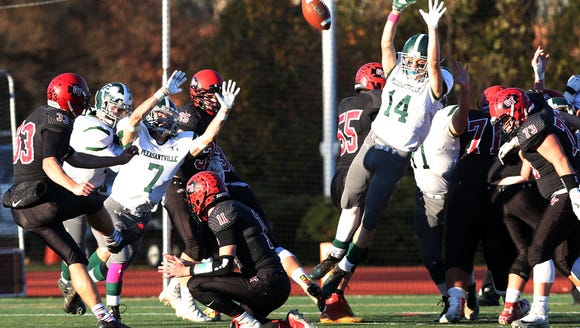 Glens Falls defeated Pleasantville 49-14 in the the