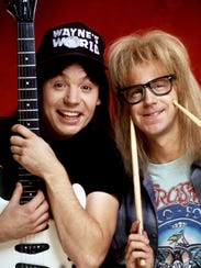 Mike Myers, left, and Dana Carvey in the 1992 motion