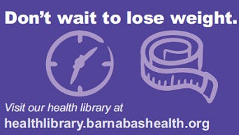 Don't wait to lose weight.
