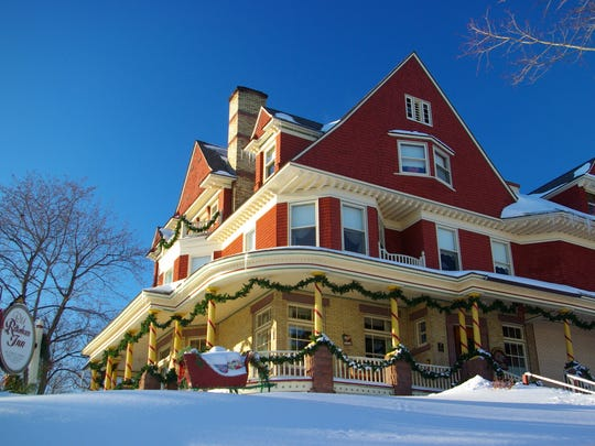 he Rittenhouse Inn is an 1880s Victorian perched on a hill with views of Lake Superior.