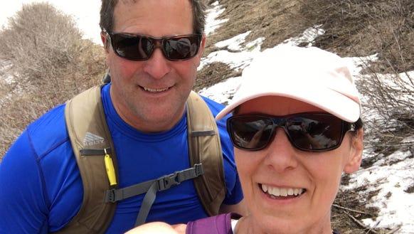 Cori Strathmeyer and her husband, Brian, took a break