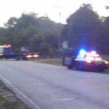 A motorcyclist was hospitalized after a crash in Middleburg Wednesday evening, authorities said.