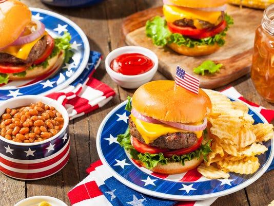 Homemade Memorial Day Hamburger Picnic
