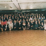 Members of the Poughkeepsie High School class of 1945 gather for their 50th reunion in 1995.