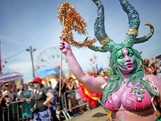 Whoa! The Mermaid Parade at Coney Island is a real treat for the eyes. At the annual parade in Brooklyn, N.Y., on June 21, people came dressed as mermaids and other sea creatures. The tradition, begun in 1983, pays homage to the former annual Coney Island Mardi Gras held in 1903-1954.