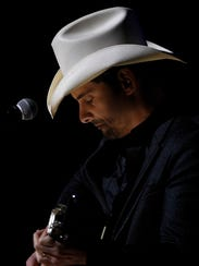 Brad Paisley sings during the Country Music Hall of