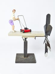 Don Shull, Untitled (Lawnmower), 1992, wood and metal,