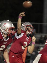 Seth Becker of Bethel lets a pass rip down field to