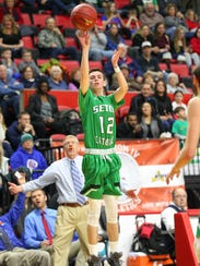 Tommy Dempsey takes a shot for Seton Catholic Central