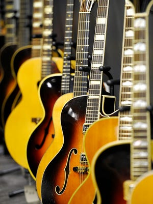 "The Country Music Hall of Fame and Museum's new exhibit, ""American Sound and Beauty: Guitars from the Bachman-Gretsch Collection,"" opens to the public Friday."