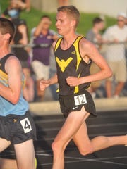 Chad Johnson runs in the 3200 at regionals last week.
