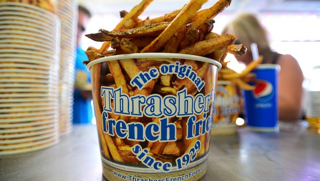 Thrasher's Famous French fries located in Ocean City, Aug. 26, 2016.