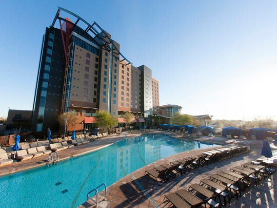 The pool area at Wild Horse Pass Hotel & Casino on the Gila River Reservation near Chandler.