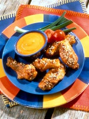 Spicy Apricot Sesame Wings