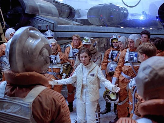 "In a scene from ""The Empire Strikes Back,"" Princess"