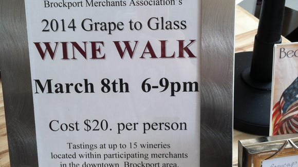 The wine walk will feature Finger Lakes and Niagara wineries.
