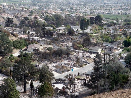 The Ondulando neighborhood in Ventura was hard hit by the Thomas Fire.