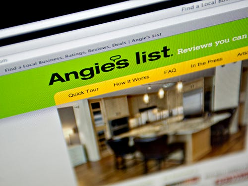 File photo taken in 2013 shows the Angie's List website displayed on a computer screen in Tiskilwa, Ill. In a lawsuit filed Friday, June 19, 2015, Angie's List accuses an Amazon.com subsidiary of stealing proprietary information.