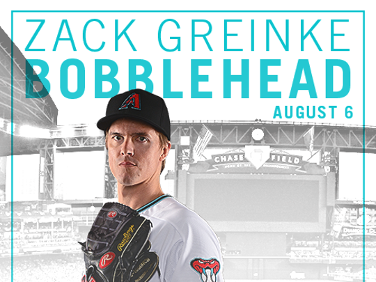 Pick up a bobblehead version of new pitching ace Zach Greinke on Aug. 6.