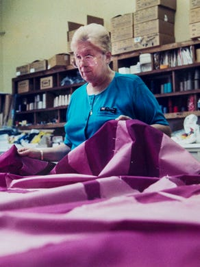 1990: Seamstress Yvette Guillerm of Manchester Township works on a project at Six Flags Great Adventure.