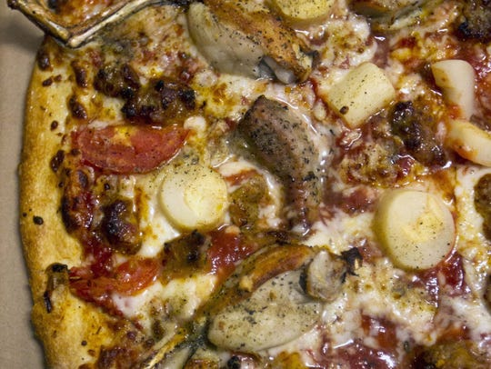 Everglades Pizza from Evan's in Fort Myers.