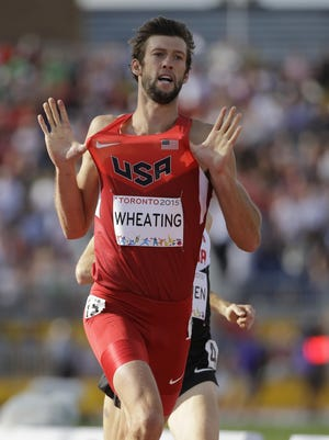 Andrew Wheating advanced to the semifinal round of the 1,500-meter run at the U.S. Olympic track and field trials Thursday.