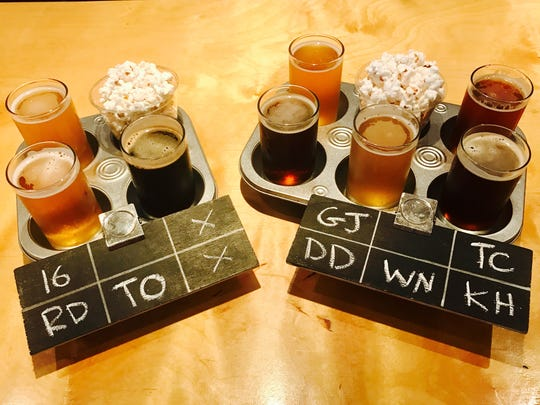 Momentum Brewhouse offers a variety of craft beers created locally.