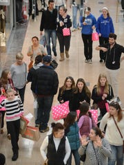 Shoppers at Willowbrook Mall in Wayne on Black Friday