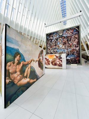 Michelangelo's Sistine Chapel at The Oculus at Westfield World Trade Center in June in New York City.