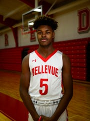 Caleb Marshall had 18 rebounds in Bellevue's first game.