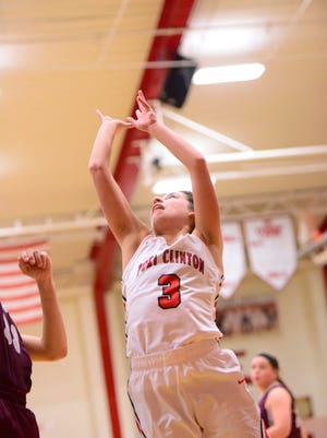 Port Clinton's Erin Hiller scored 15 points Tuesday in a win over Rossford.