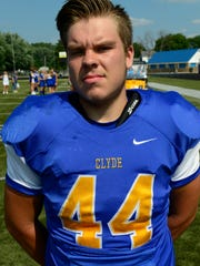 Clyde's Gunner Golden rushed for 164 yard and one touchdown last week.