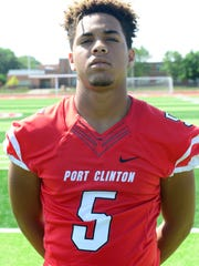 Marius Pinkelton is a versatile varsity newcomer for Port Clinton.
