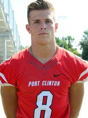 Port Clinton senior Gunar Zink is a lineman on the News-Messenger/News Herald team.