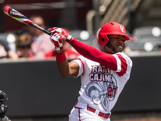 UL's Steven Sensley, shown here swinging against Arkansas State earlier this season, was drafted by the New York Yankees on Wednesday.