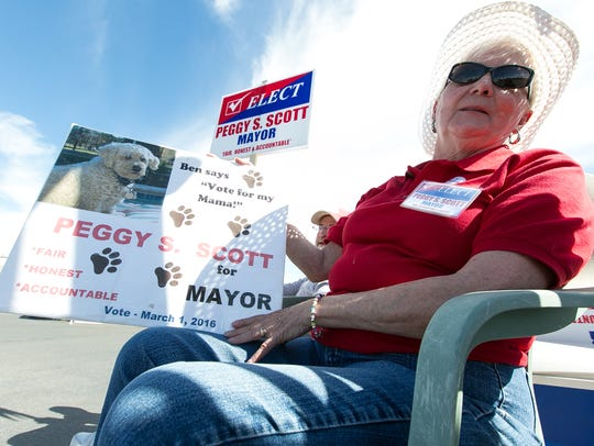 Peggy Scott, candidate for mayor of Anthony, New Mexico,