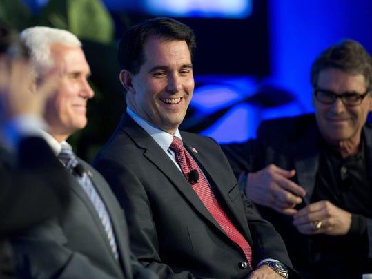 Scott Walker, Rick Perry, Mike Pence