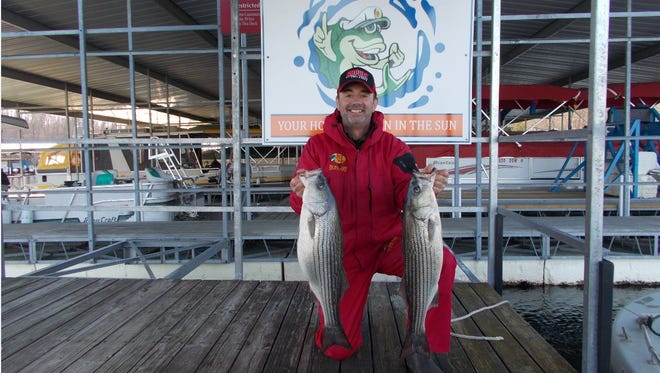 Jim Crowley, host of an internet TV show called Hook and Hunt TV.com. recently went fishing with Tom Reynolds.