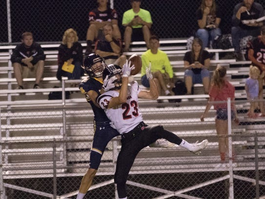SPASH's Lee Goman intercepts a pass during the Panthers