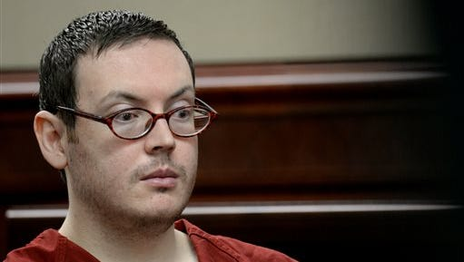 James Holmes appears in court to be formally sentenced, Tuesday, Aug. 25, 2015. Victims and their families were given the opportunity to speak about the shooting and its effects on their lives. The formal sentencing began Monday at Arapahoe County District Court in Centennial. (RJ Sangosti/The Denver Post via AP, Pool)
