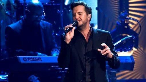 """Luke Bryan performs """"Oh No"""" at the MusiCares Person of the Year tribute honoring Lionel Richie at the Los Angeles Convention Center."""