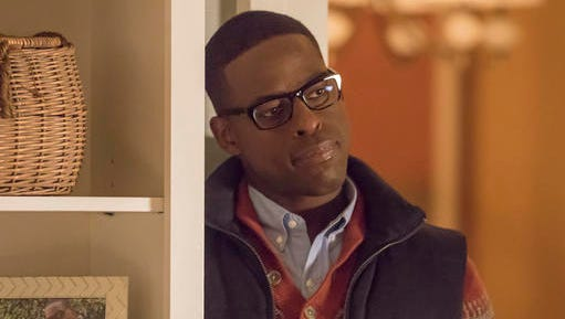 """This image released by NBC shows Sterling K. Brown as Randall in a scene from the NBC series, """"This Is Us."""" The series was renewed for two more seasons."""