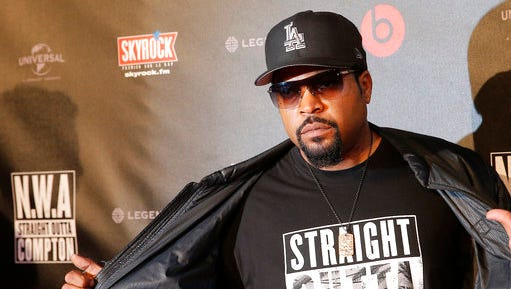 "FILE - In this Aug. 24, 2015 file photo, U.S music producer and rapper O'Shea Jackson, also known by his stage name Ice Cube poses in Paris. The Library of Congress announced Wednesday, March 29, 2017, that N.W.A's album, ""Straight Outta Compton,"" would be preserved for posterity. The library selects 25 recordings every year for the registry in recognition of their historical, artistic or cultural significance."