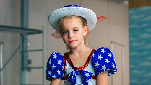 "This image released by Netflix shows Hannah Cagwin in a scene from, ""Casting JonBenet."""