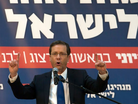 Isaac Herzog, co-leader of the left-of-center Zionist