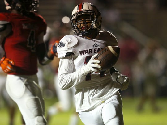 Wakulla's Chris Beverly runs in for a touchdown during their game against North Florida Christian on Friday.