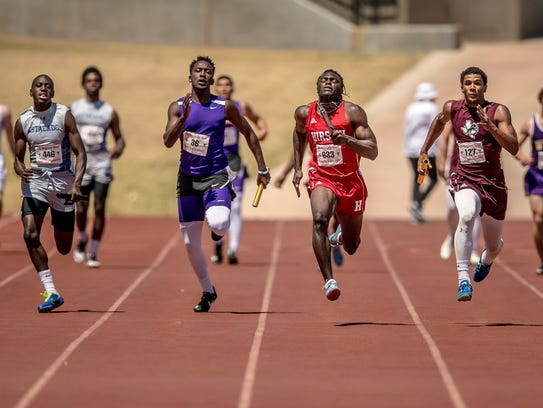 Gerrick McKinney and the Hirschi boys relays are looking